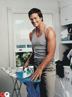 #12, Tom Brady... ironing... for GQ Magazine #Patriots
