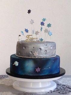 Gâteau de l'espace #spacecake #weddingcake #airbrush #aerographe #cake design #cook-shop.fr http://cook-shop.fr/177-aerographe-airbrush