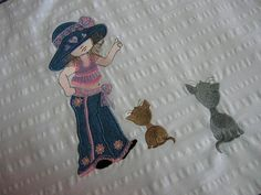 Miss Hannah (5x7) | Embroidery Delight | Your source for all embroidery designs, Applique, Quilt Blocks, Animal, Floral, Lacework, etc.  I could use my mistakes to make these appliques.
