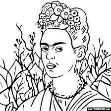 frida kahlo coloring pages - Google Search