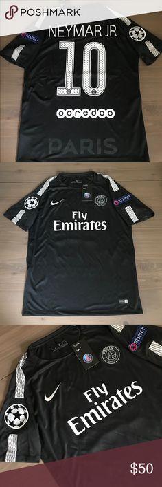 e08c992bd6f5 PSG black Neymar Jr.  10 soccer jersey Nike PSG away black Neymar Jr.