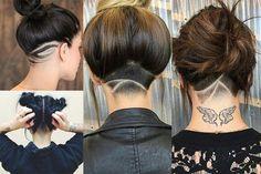 Undercut Tattoos, Pearl Earrings, Hair Styles, Outfits, Jewelry, Girls, Fashion, Hair, Hair Plait Styles