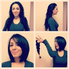 Sharing is caring! Classic bob by Adriana. Donateyourhair, donate, fioriohair, shorthairdontcare, shorthair, fioriosalon, bob, brunette, hair, hairideas, haircut, playful, fun, fioriosquareone, makeovermadness, makeover, beautyindustry, beauty, revlon, revlonprofessional, fashion, besthairsalon, coolhair, mississauga, squareone, classicbob, classic, backtobasics.