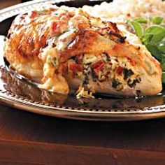 Cream Cheese and Tomato stuffed Chicken? Yes please!