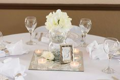 White, Ivory, Silver Wedding Party Ideas | Photo 1 of 6 | Catch My Party