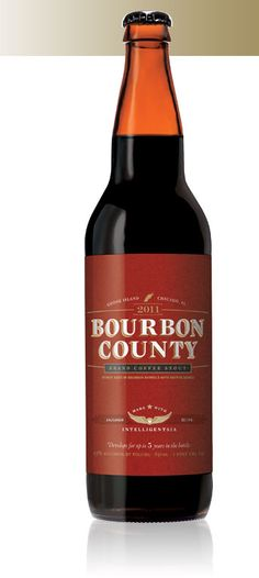 Goose Island's Bourbon County Coffee is pretty because it is aged in a bourbon barrel for five years.