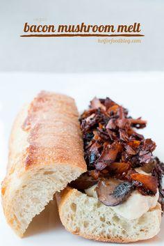 bacon mushroom melt #vegan | RECIPE on hotforfoodblog.com
