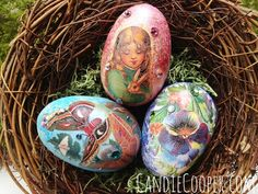 Collaged Easter Eggs on the Graphics Fairy Blog