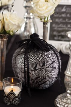 Black-and-White Cocktail Party for Halloween