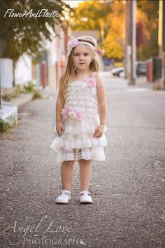 Ivory lace Dress  and setLace Flower girl by FlowersAndElastic
