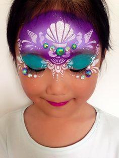 #mermaid #face paint