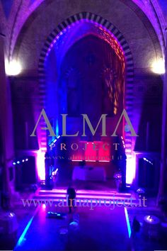 ALMA PROJECT @ Four Seasons Hotel - Conventino - purple red blue light - uplights