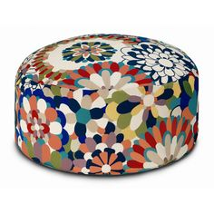 Missoni Home Vevey Cylindrical Pouf Ottoman