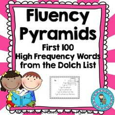 HFW Fluency Pyramids Fry's Second 100 High Frequency Words This set includes Fry's Second 100 high frequency Words. (Words These High Frequency sentence fluency pyramids are excellent for beginning readers. The repetition builds confidence and fluency. Sight Words List, First Grade Sight Words, Sight Word Practice, Second Grade, Dolch List, All About Me Poster, Common And Proper Nouns, Beginning Of Kindergarten, Sight Word Worksheets