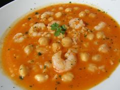 Garbanzos con gambas y arroz Great Recipes, Soup Recipes, Salad Recipes, Cooking Recipes, Spanish Stew, Spanish Dishes, Mexican Food Recipes, Vegetarian Recipes, Healthy Recipes