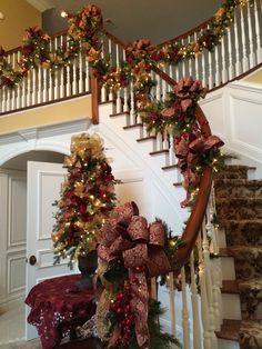 Christmas entry foyer