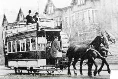 Horse Tram on Mansfield Road near Hucknall Road, Nottingham, 1897
