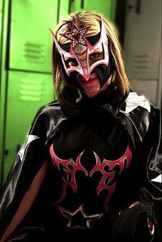 AAA Luchadora Sexy Star looking a little like a superhero. Or a supervillain....
