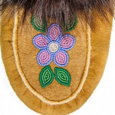 Moosehide Moccasins Handmade by Skilled Acho Dene Native Artisans South American Art, Native Beading Patterns, Beaded Moccasins, Beading Projects, Beading Ideas, Beaded Flowers, Handicraft, Holiday Crafts, Mittens