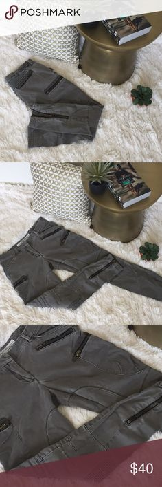 Modern cargo pants Olive green modern cargo pants; heavy metal zippers; unique patch stitching. All Saints Pants