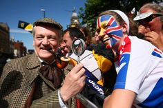 #TdF Gallery: 2014 Tour de France, stage 1 - Sherlock Holmes and a most colorful Watson. Photo: Tim De Waele | TDWsport.com