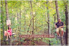 such a super cute idea! could be a save the date idea!!! :) take a picture in a deer stand!
