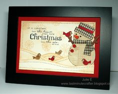Country Christmas Framed by Humma - Cards and Paper Crafts at Splitcoaststampers