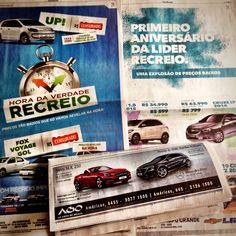 11:21 com Recreio, Lider, Bracom, AGO Mercedes. Mais um sábado de belos anúncios na midia impressa. #occupyoglobo