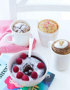 Mug Cake microondas Cereal, Muffin, Favorite Recipes, Snacks, Mugs, Breakfast, Desserts, Foods, Gourmet