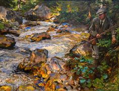 John Singer Sargent Trout Stream in the Tyrol 1914