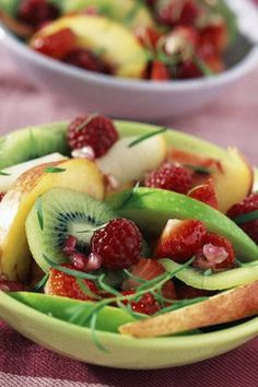 Fruit Salad. Visit www.CouponMom.com for discounts on all the healthy, crunchy ingredients! #CouponMom #Coupon #Yummy #Recipe #Salads #Veggies
