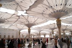 These sun protection umbrellas in Medina look straight out of Final Fantasy