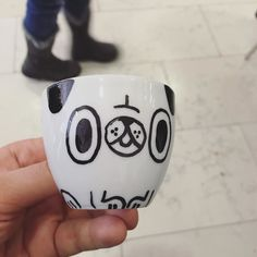 By http://www.instagram.com/maurogatti / When you have a sharpie an espresso cup and 5 minutes. #illustration #maurogatti #pug #sharpie  #custom