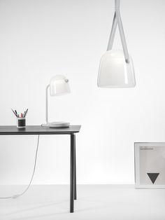 White Interior - Brokis lights - White Mona. Design by Lucie Koldova.
