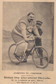 Skinny cyclist