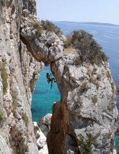 Rock #Climbing on #Hvar Island, Croatia