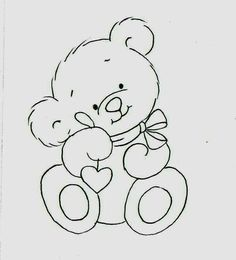 D la web Teddy Bear Coloring Pages, Colouring Pages, Coloring Books, Baby Embroidery, Embroidery Patterns, Quilt Patterns, Teddy Bear Drawing, Baby Drawing, Baby Motiv