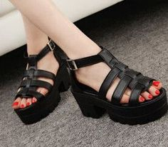 83eea0ce6ace46 HEE GRAND 2016 Korean Women Platform Shoes Gladiator Woman Sandals Summer  Hollow Out Weave Ladies Sandal