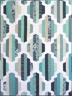 Modern Quilt Pattern, Garden Lattice, 2 sizes | Craftsy