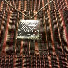"""Tiffany & Co 18"""" Siver Chain with Pendant by Klcvintagetreasures on Etsy"""