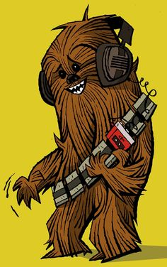Chewie rocking out