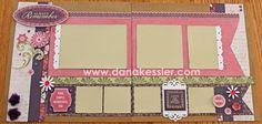 Two page scrapbook layout Ivy Lane Cricut Artiste Girl Valentines Day Love Fun Friends #ctmh #cricut #scrapbooking #scraptabulousdesigns