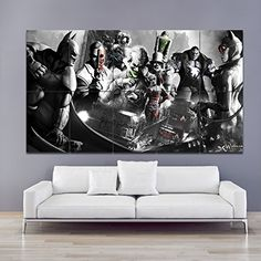 batman arkham city glossy paper giant wall art print poster large wall dcor posters