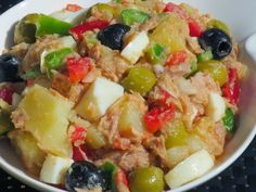 Ana Sevilla Salad jacket with Thermomix Salad Recipes, Diet Recipes, Vegan Recipes, Cooking Recipes, Tapas, Mets, Savoury Dishes, Dairy Free Recipes, I Foods