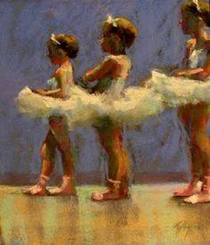 Little Dancers 8 x 10 Pastel on Board $800 on display at Stewart Fine Art 12 State Street Charleston, SC