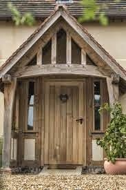 A beautiful oak porch left to age naturally