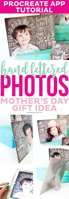 Create a completely custom and gorgeous Mother's Day Gift with these Hand Lettered Photos printed on metal. They're unbelievably beautiful! Informations About Hand Lettered Photos Mother's Day Gift Id Diy Mothers Day Gifts, Mother Day Gifts, Inkscape Tutorials, Craft Tutorials, Diy Projects, Lettering Tutorial, Lettering Ideas, Ipad Art, Mother's Day Diy