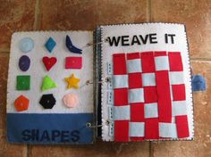 Felt Activity Book - Shapes and Weave