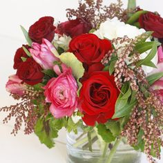 Valentine's Day with roses, tulilps, and ranunculus | LILLA BELLO