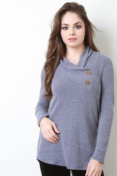 @modaonpoint This sweater features a soft knit fabrication, asymmetrical neckline, long sleeves, and a slim fit. Accessories sold separately. Made in U.S.A. 51% Polyester, 35% Rayon, 10% Cotton 4% Spandex.
